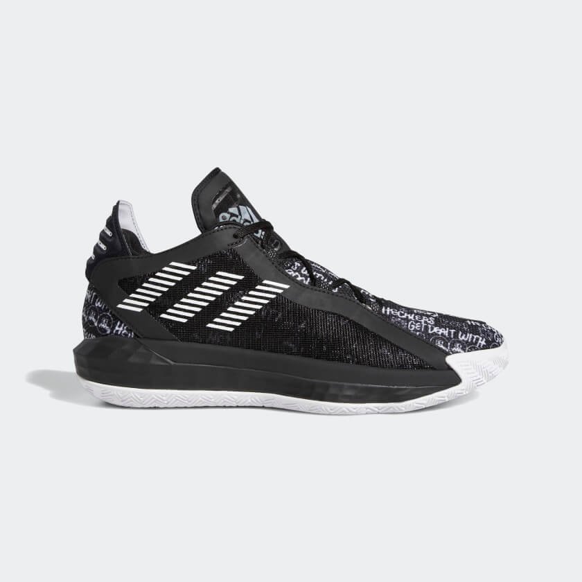 adidas Dame 6 Core Black White